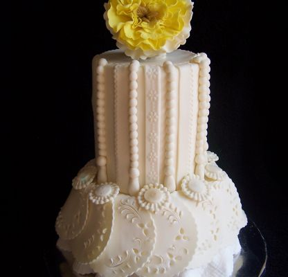 modern small wedding cake